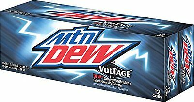 Mountain Dew Voltage - AMERICAN IMPORT SODA RARE - 12 Pack (12x 355ml cans)