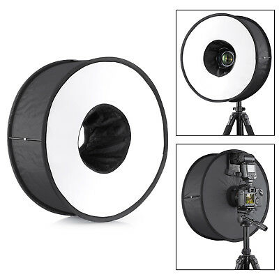 "PhotR 45cm 18"" Universal Magnetic Macro Ring Round Flash Diffuser Softbox Camera"
