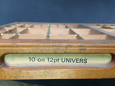 Letterpress Printing OLD WOODEN TYPECASE Compositors Case Printers Tray