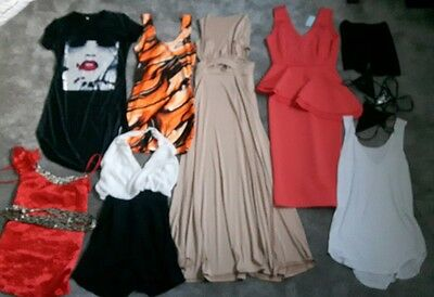 New bundle joblot womens clothes maxi/bodycon dresses,tops,Jeans,shorts- size 10