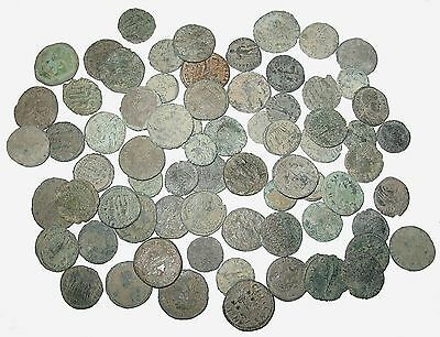 Ancient Roman Imperial TWO medium high grade uncleaned hoard coins nice (X2)