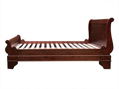 Mahogany Sleigh Bed Bateau Lit-Low Footboard-2 Sizes-Clearance Price Reduced