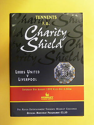 FA Charity Shield - LeedsUnited v Liverpool - 8th August 1992