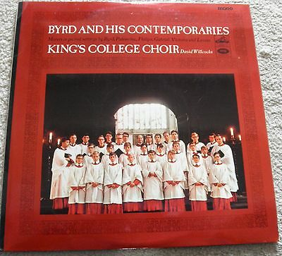 byrd and his contemporaries, king's college choir, willcocks, emi mono  alp 2094
