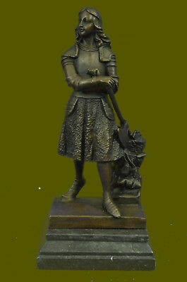 Vintage Large statue Bronze Joan of Arc holding a Ax signed Fremiet French Deal