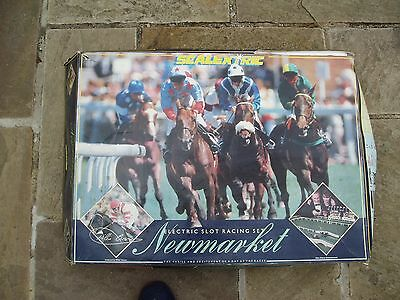 Scalextric Newmarket / Ascot Horse Racing Game , Complete & Boxed - Very Rare