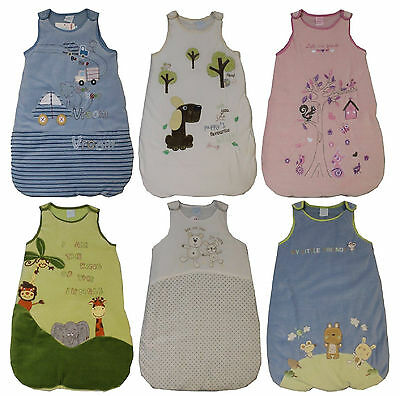 Baby Sleeping Bags Boys Girls Unisex 0-6 Months Velour Bnwt