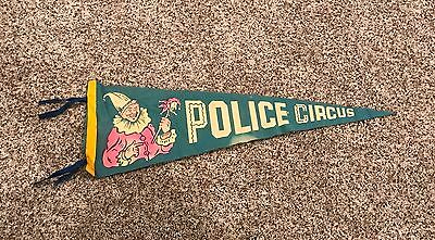 Vintage 1940s St. Louis Police Circus Pennant Flag Very Scarce!