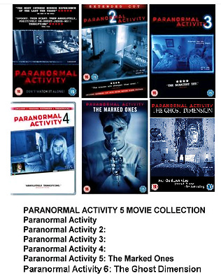 PARANORMAL ACTIVITY COMPLETE DVD SET Part 1 2 3 4 5 6 All Movie Film New UK Box