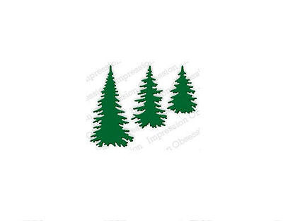 EVERGREEN TREES DIE-Impression Obsession/IO Stamps (DIE217-E)