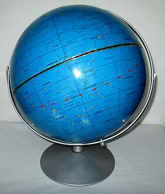 "Vintage 70s Apollo Celestial Stars Galaxies 12"" World Globe Repogle Rotates 1971"