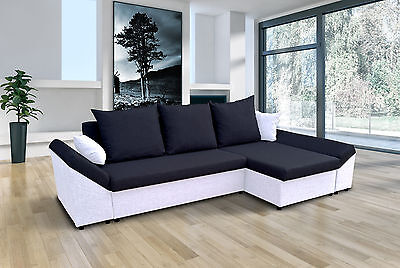BRAND NEW FABRIC CORNER SOFA BED VERONA  LEFT / RIGHT HAND SIDE with storage