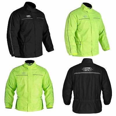 Oxford Rainseal All Weather Motorcycle Bike Over Jacket Waterproof Hi Vis New