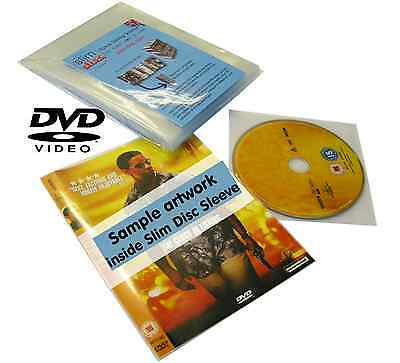 Slimdisc DVD Media Space Saving Cover Sleeve Storage System 500 Pack