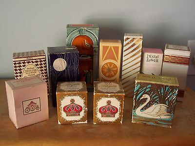 Lot Of 10 Vintage Avon Colognes, Talc, Soap, After Shave In Original Boxes