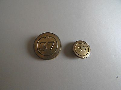 Revolutionary War French 37 Regiment Military Button Napoleonic Lot 2 Buttons