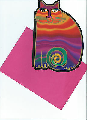 Vintage Laurel Burch RAINBOW CATS Greeting Card