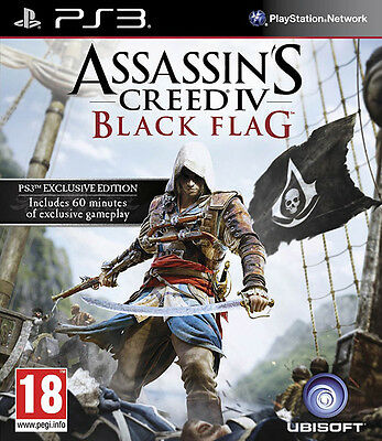 Assassins Creed 4 Black Flag PS3 *in Excellent Condition*