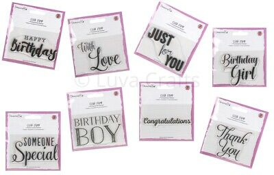 Dovecraft A7 Clear Stamp - Choose from 8 on Trend Sentiments - Made in the UK