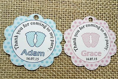 30x Baptism Christening Gift Favour Tags