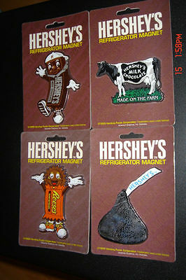 Hershey's & Reese's Cartoon Magnet - Lot Of 4 Pc.  100% Authentic - New