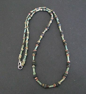 NILE  Ancient Egyptian Glass + Mummy Bead Necklace ca 600 BC