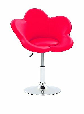 """""""stool With Padded Armchair """"""""ariel"""""""" With Base Structure Chromed Metal And Fini"""