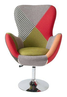"""""""armchair Upholstered Stool With Swivel """"""""lisette Patch"""""""" With Base Structure"""""""