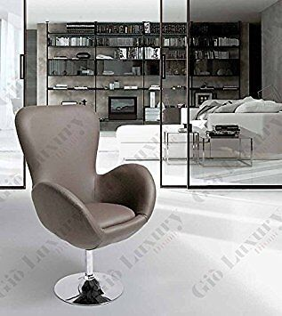 """""""armchair Upholstered Stool With Swivel """"""""lisette"""""""" With Base Structure Chromed"""""""