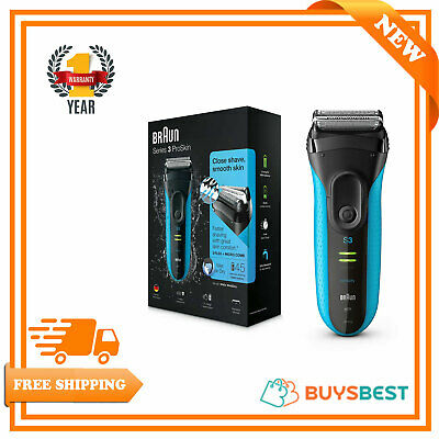 Braun Electric Rechargeable Shaver Razor ProSkin Wet & Dry Mens Shaver 3 Series