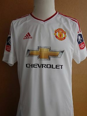 Match Issue Worn Manchester United Rooney Fa Cup  Maglia Trikot Jersey Shirt