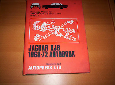 Autopress Workshop manual Jaguar XJ6 ,2.8 & 4.2  1968 - 72