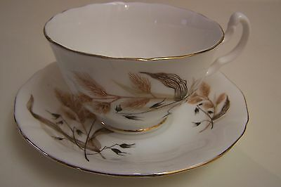 Vintage ADDERLEY ENGLISH Bone China Wheat Cup and Saucer