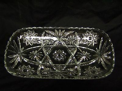 Vintage EARLY AMERICAN PRESCUT Anchor Hocking Large Rectangular Tray