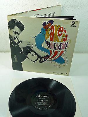 """CHET BAKER """" Baker's Holiday"""" US 1965 Mono BOOK Cover LIMELIGHT fold-out LP 60s"""