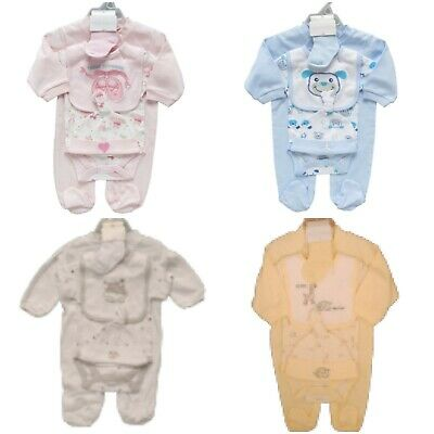 5 Piece Baby Layette Clothes/Clothing Starter Set in Gift Bag Baby Shower