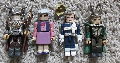 Minimates Marvel Lot Of 4 Rare Loki Odin Aunt May Sheild Agent Avengers Thor