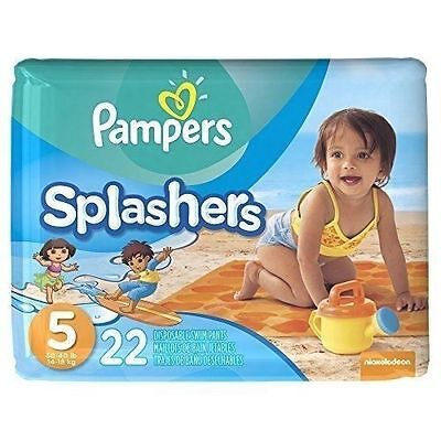 Pampers Splashers Swim Diapers Pants Disposable 22count Size 5 Dora Diego Design