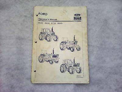 Ford New Holland Operators Tractor Manual 8530 8630 8730 8830 for 30 series