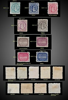 1893 -1919 Cook Islands  Small Lot Mint Differents Years Incomplete Issues