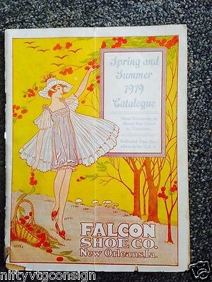 Vtg 20's 1919 Shoe Catalog Falcon Shoe Co New Orleans LA Store Advertising Book