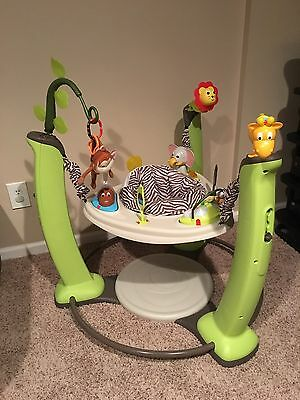 Evenflo ExerSaucer Jump & Learn Jungle Quest Baby Jumperoo Bouncer EUC