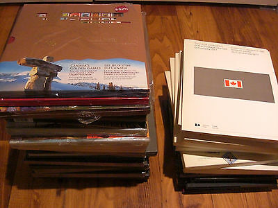 Canada POST SOUVENIR COLLECTION FROM 1977 TO 2010 -- FACE VALUE $958.00