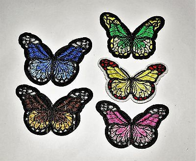 5x Applique Repair Sewing  on Patch Craft Ornament butterfly   Badge