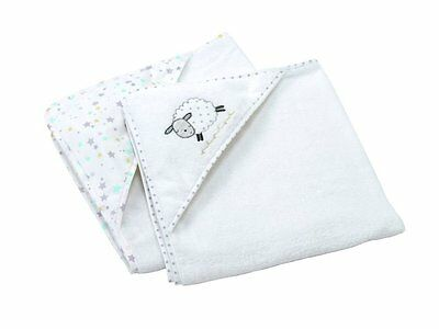 Silvercloud Counting Sheep Cuddle Robes Cotton Bath Shower Towel TWIN PACK