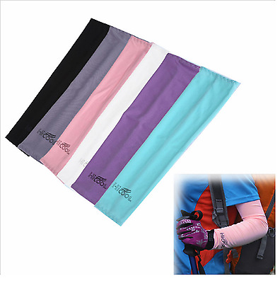 1pair Cooling Arm Sleeves Sun UV Protective Cool-Dry Sports Golf Cycling Fishing