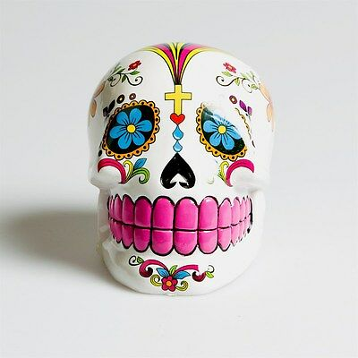 tirelire SUGAR SKULL tête de mort mexicaine DAY OF THE DEATH calavera