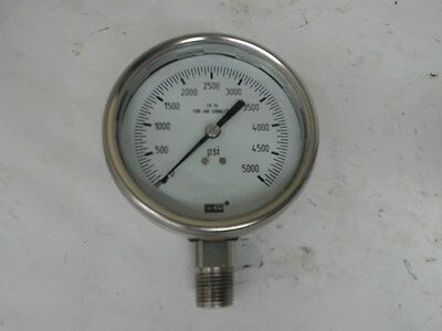 Wika 316 Ss Tube And Connection Gauge, 0-5000 Psi, Safety Glass Bg