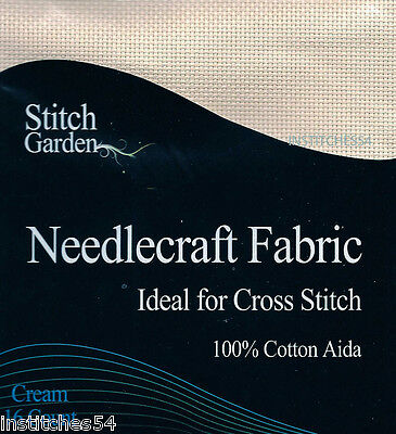 Stitch Garden 16 Count Aida For Cross Stitch  Cream