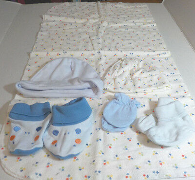6 Piece Boys 0/6M Layette Previously Worn Lot N
